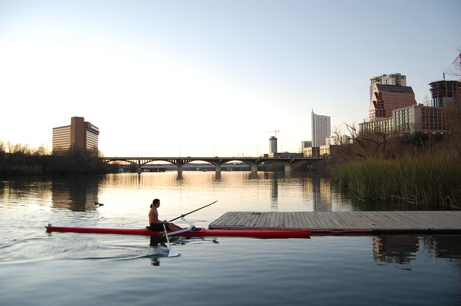 Canoeing on Lady Bird Lake