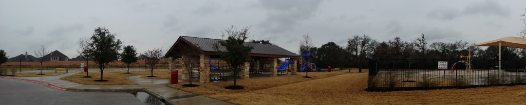 Panoramic Picture of the Amenity Centers at Cold Springs in Leander TX