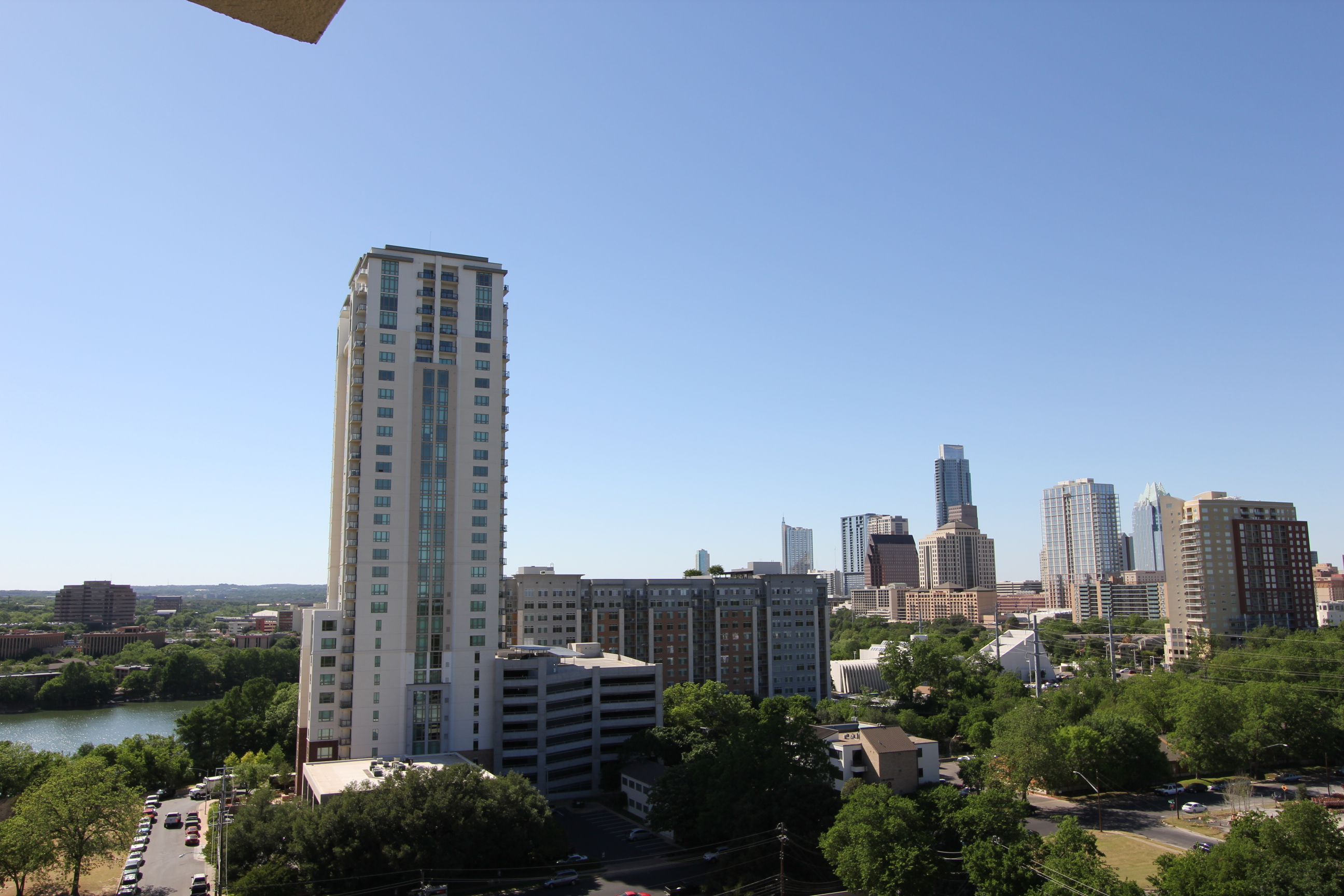 Downtown Austin View from Towers of Town Lake Condos